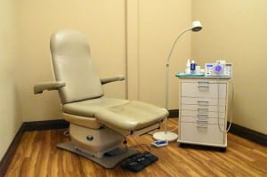 Exam rooms are spacious and provide privacy as we care for your needs.